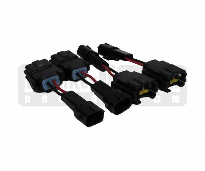 MWR Fuel Injector Connector Set (4) - Square (EV1) - Plug N Play