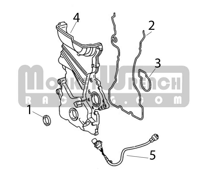 Toyota OEM Timing (front) Cover Seal B-2ZZ-GE(Lotus A120E6134S)