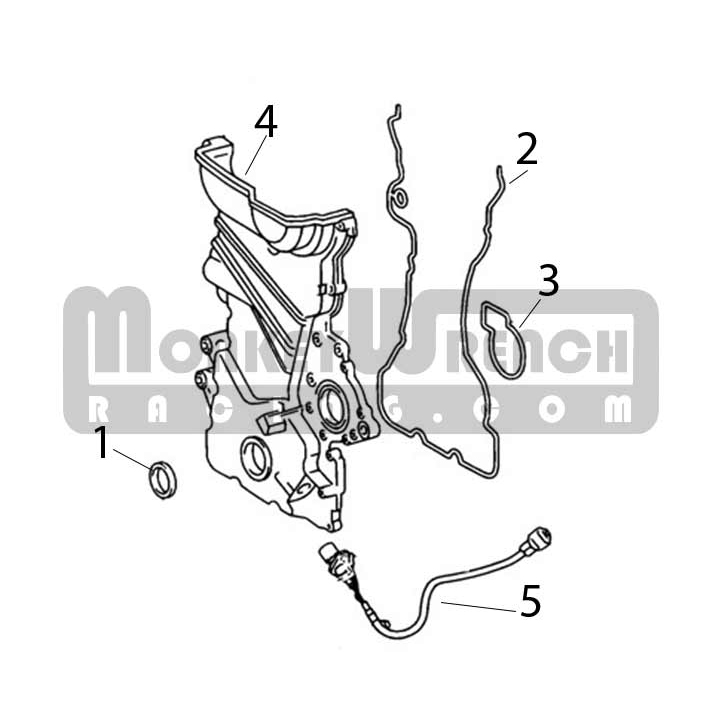toyota oem timing front cover seal a 2zz ge lotus a120e6133s rh monkeywrenchracing com Timing Pulley Timing Chain Cover Gasket
