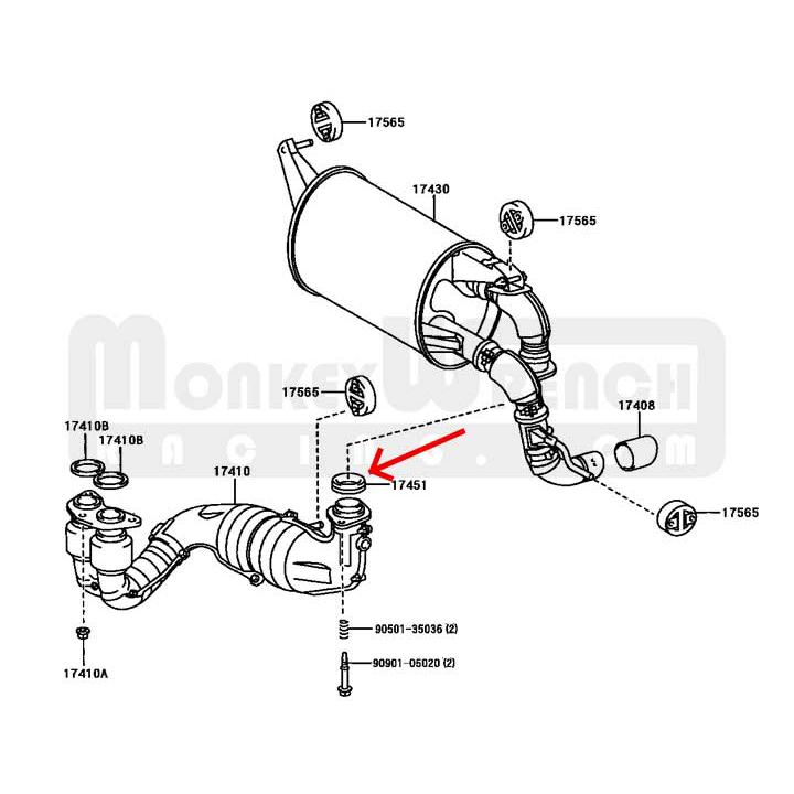Toyota Oem Muffler Gasket Mr2 Spyder 00 05
