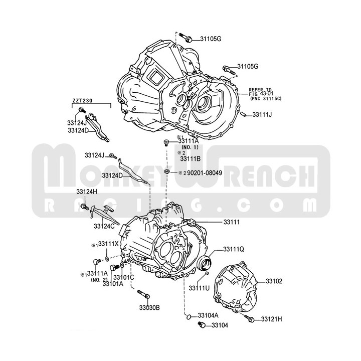 Lotustoyota Oem Bellhousing Transmission Case Section C60 C64. Lotustoyota Oem Bellhousing Transmission. Toyota. Toyota Transmission Clutch Diagram At Scoala.co
