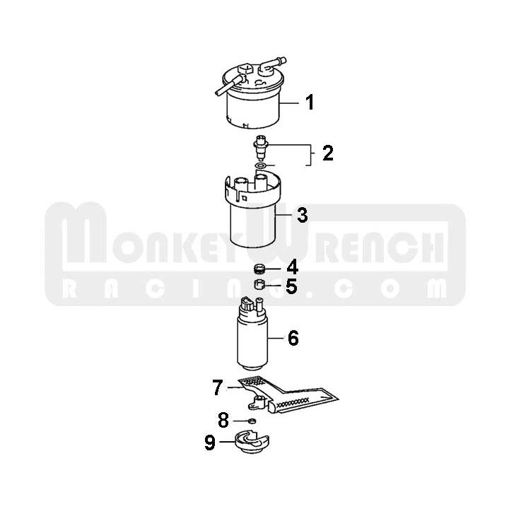 toyota/lotus oem fuel filter – celica, mr2-s, elise/exige | monkeywrench  racing  monkeywrench racing