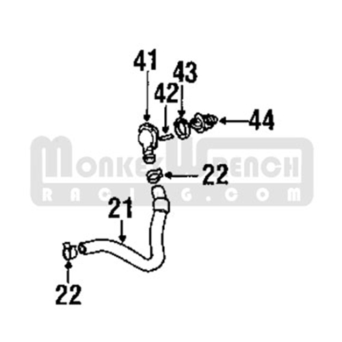 toyota oem thermostat housing  u2013 2zz