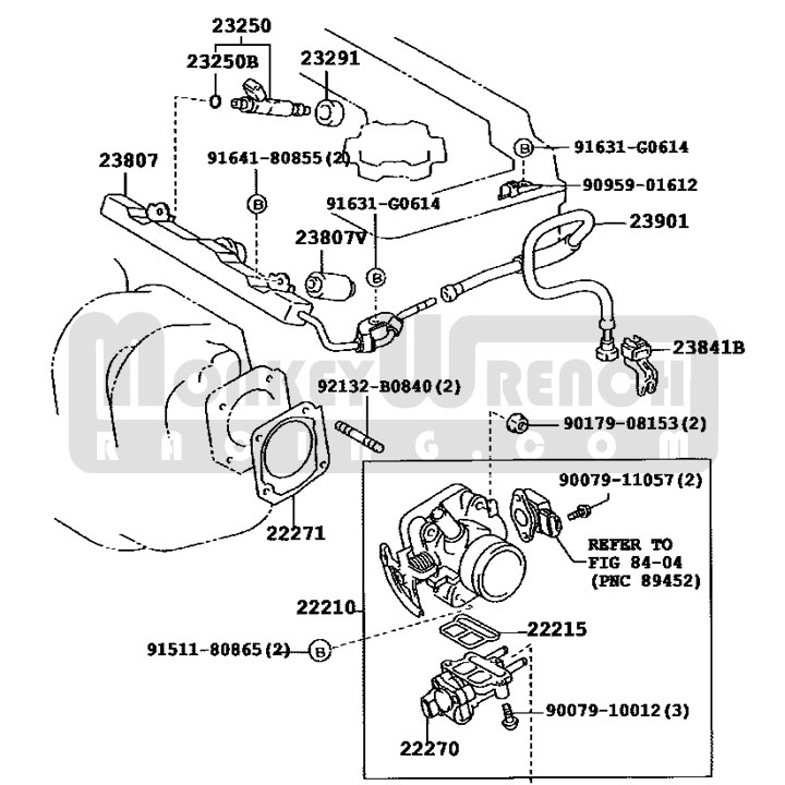 Toyota Oem Fuel Rail 2zzge All Monkeywrench Racingrhmonkeywrenchracing: Mr2 Engine Diagram At Gmaili.net