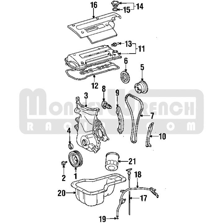 toyota oem engine cover – black plastic – 00-05 mr2 spyder mrs