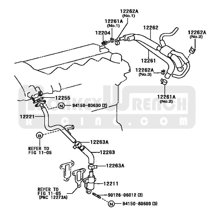 Toyota Oem Breather Hose  U2013 03 Matrix 2zz