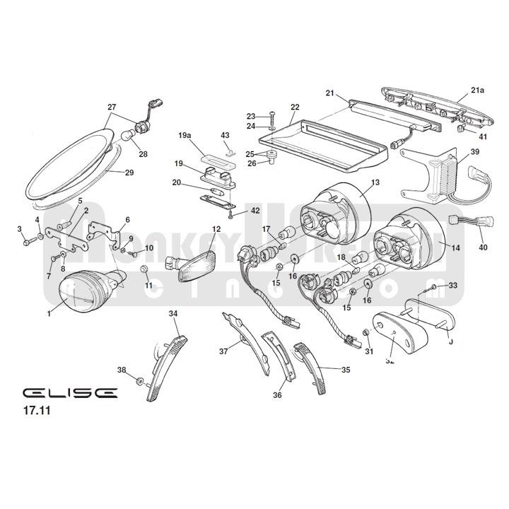 Fits Lotus Elise S2 1.8 Blanc 54-SMD DEL 12 V Side Light Parking Ampoules